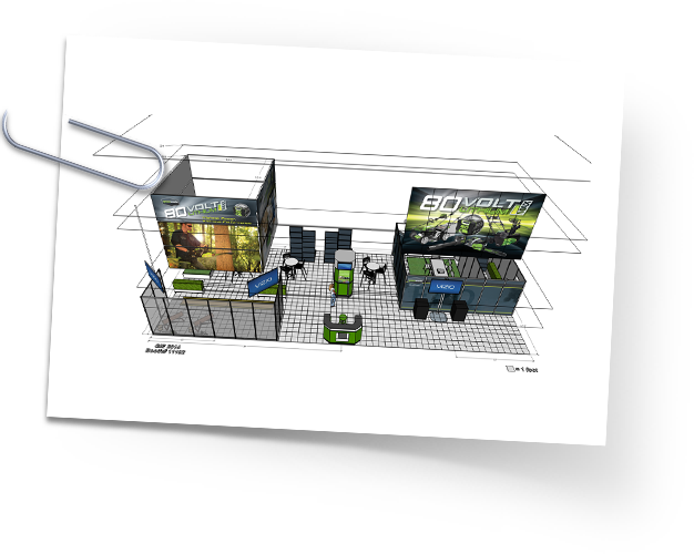 Greenworks 2014 GIE+EXPO Trade Show Booth Design
