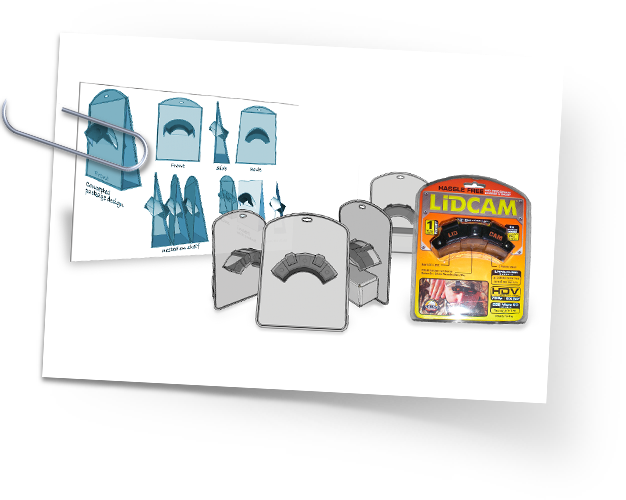 Rhino Outdoors Lidcam package design process