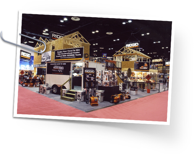(terrible pic of a) Mockup of a RIDGID Trade show Booth for IBS